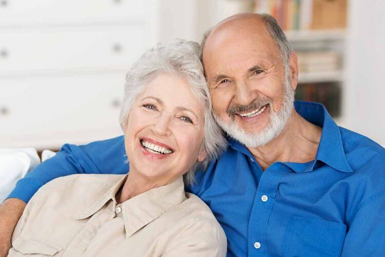 Couple Smiling after Denture Care Wagga