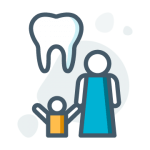 Childrens Dental Care Icon