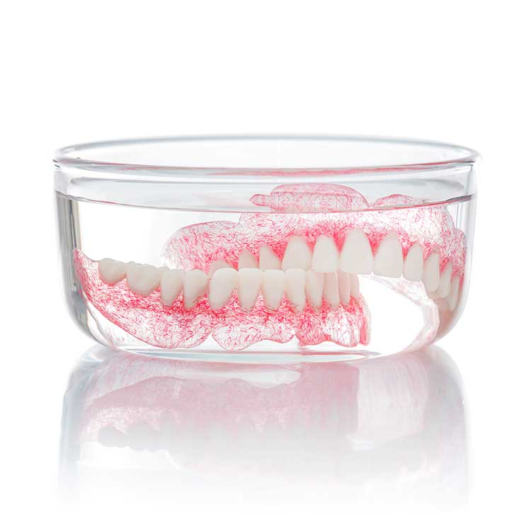 Denture Sample in Glass