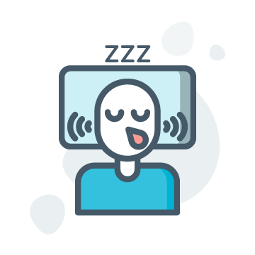 Snoring Illustration